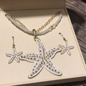 Kim Rodgers starfish earrings and necklace